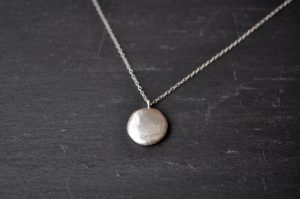 Panama necklace - silver detail