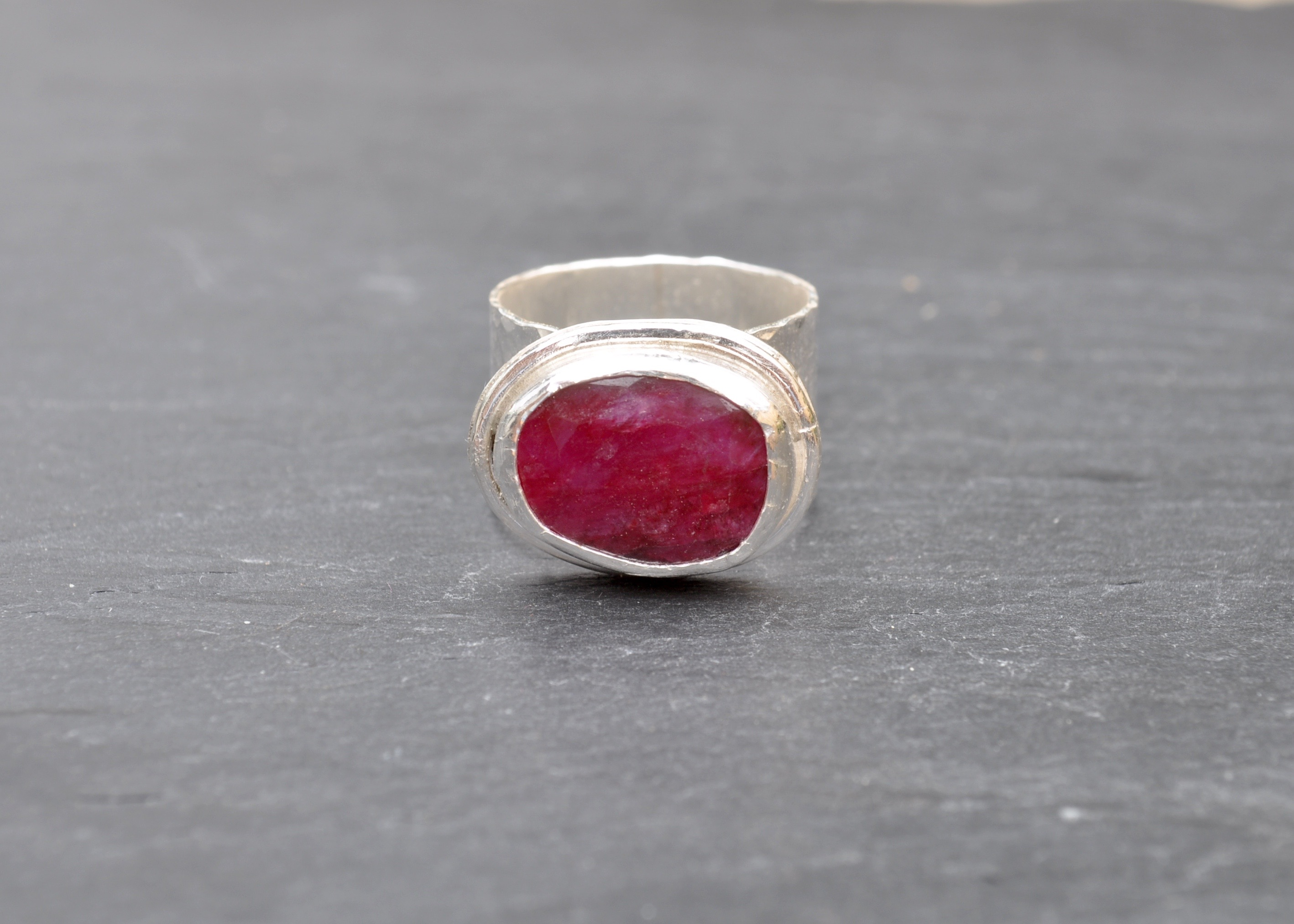 Ruby Beryl in Sterling Silver Ring