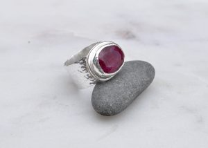 Ruby Beryl in Sterling Silver Ring