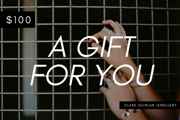 $100 gift certificate for clare quinlan jewellery