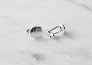 Round organic shape 100% sterling silver, handcrafted cufflinks